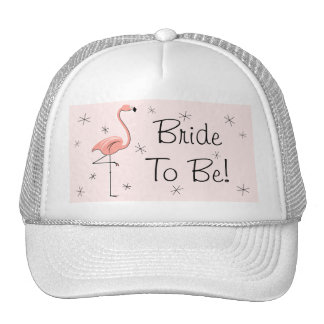 Flamingo Pink 'Bride To Be!' Trucker hat pink