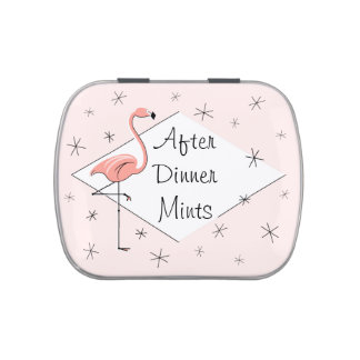 Flamingo Pink Diamond After Dinner Mints candy tin