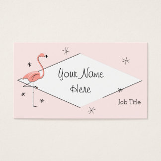 Flamingo Pink diamond business card