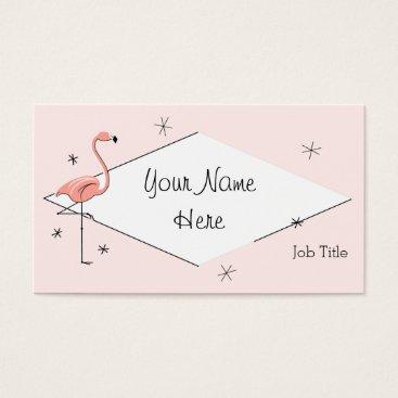 Professional Business Flamingo Pink diamond business card