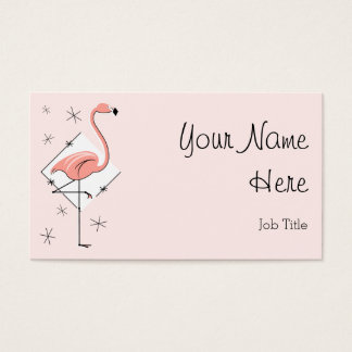 Flamingo Pink Diamond business card side text