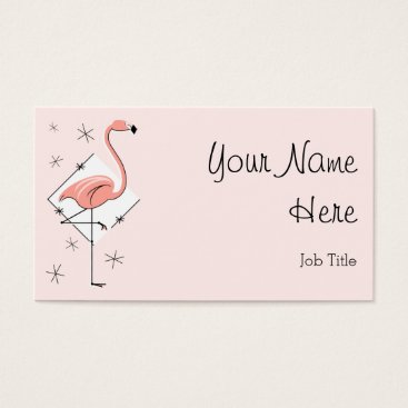 Professional Business Flamingo Pink Diamond business card side text
