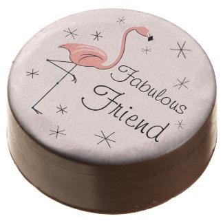 Flamingo Pink Fabulous Friend dipped oreo