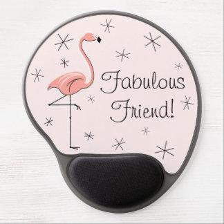 "Flamingo Pink ""Fabulous Friend!"" gel mousepad"