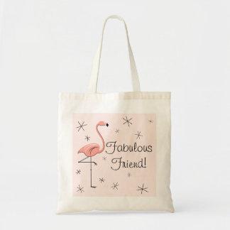 Flamingo Pink 'Fabulous Friend!' tote bag