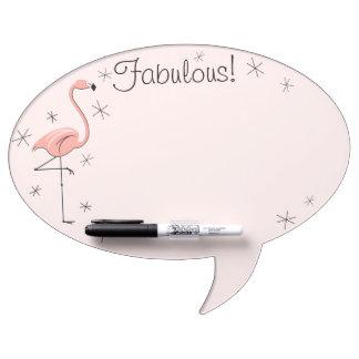 """Flamingo Pink """"Fabulous!"""" oval speech bubble Dry-Erase Board"""