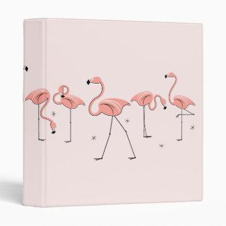 Flamingo Pink Line ring binder