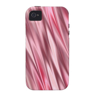 Flamingo pink satin shaded stripes vibe iPhone 4 cases