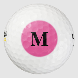 Flamingo Pink Solid Color Pack Of Golf Balls
