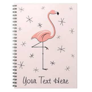Flamingo Pink Text notebook