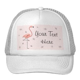 Flamingo Pink 'Text' Trucker hat pink