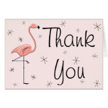 Flamingo Pink Thank You greetings card