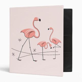 Flamingo Pink Trio 2 ring binder