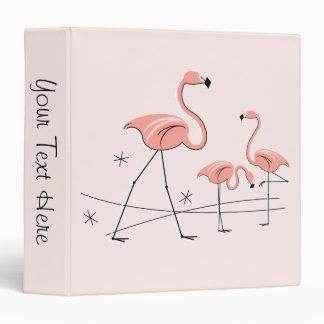 "Flamingo Pink Trio 2 ""Text Spine"" ring binder"