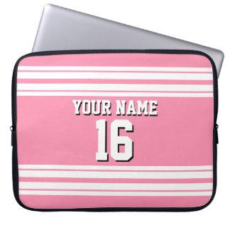 Flamingo Pink White Team Jersey Custom Number Name Computer Sleeve