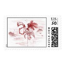 Flamingo Pirate Postage