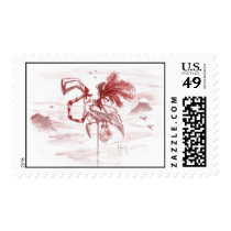 Flamingo Pirate Postage