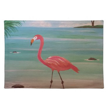 Beach Themed flamingo placemat