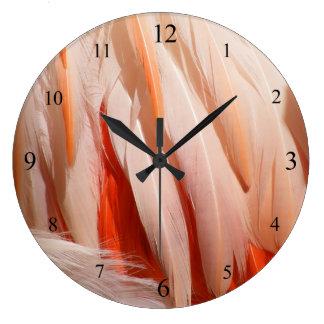 Flamingo Plumage Clock