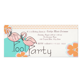 Flamingo Pool Party Card