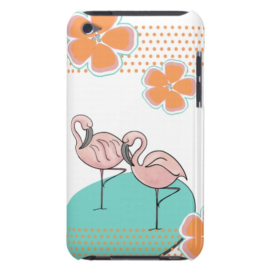 Flamingo Poolside iPod Touch Case-Mate Case
