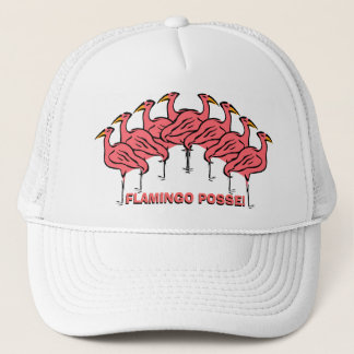 Flamingo Posse! Fun Flock of Flamingos Bird Hat
