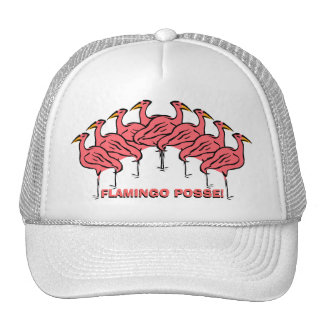 Flamingo Posse! Fun Flock of Flamingos Bird Hat