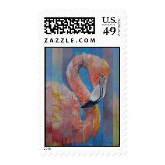 Flamingo Postage Stamp