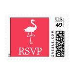 Flamingo Postage Stamp (RSVP Coral)