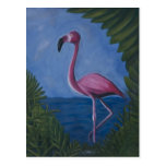 Flamingo Postcard by David M. Bandler