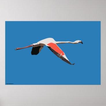Art Themed Flamingo Poster