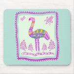 Flamingo Quilt Mouse Pad