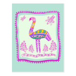 Flamingo Quilt Post Cards
