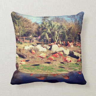 Flamingo Reflection Throw Pillow