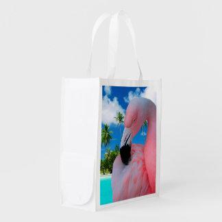 Flamingo Reusable Bag Grocery Bag