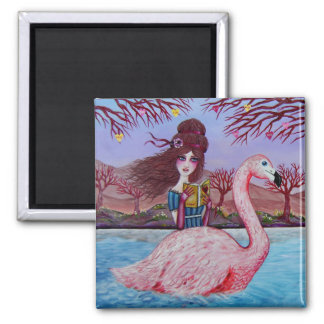 Flamingo Ride Magnet
