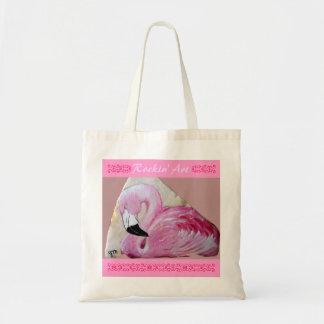 Flamingo Rock Art Tote Bag
