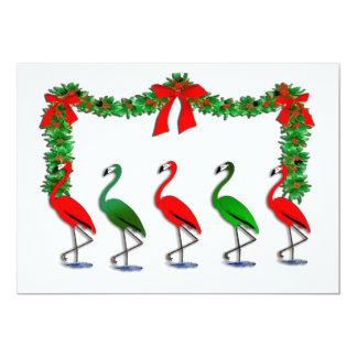 Flamingo Rockettes Dancing Invitation