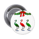 Flamingo Rockettes Dancing Show Button