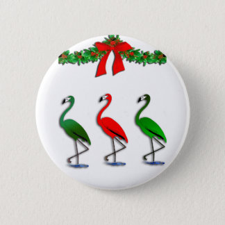 Flamingo Rockettes Dancing Show Pinback Button