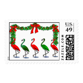 Flamingo Rockettes Dancing Show Postage