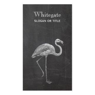Flamingo Rustic Black Business Card