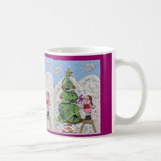 Flamingo Santa. Coffee Mug