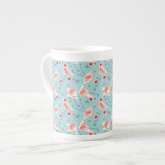 Flamingo Santas Blue Multi bone china Tea Cup