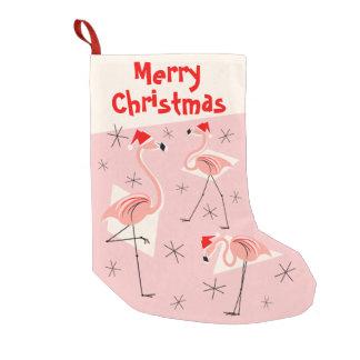 Flamingo Santas Pink Merry Christmas stocking