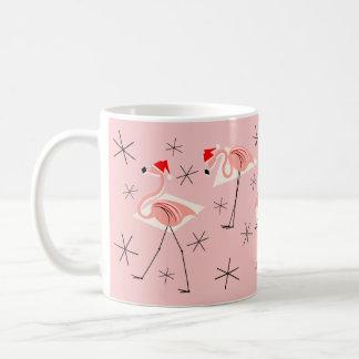 Flamingo Santas Pink mug