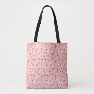 Flamingo Santas Pink Multi all over tote bag
