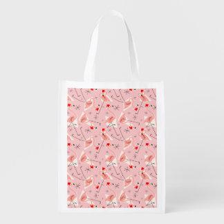 Flamingo Santas Pink Multi reusable bag