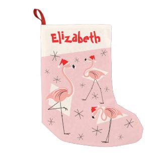 Flamingo Santas Pink Name stocking