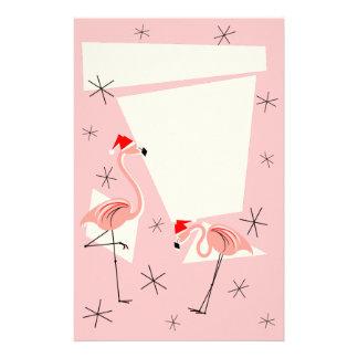 Flamingo Santas Pink stationery